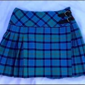 Lilly Pulitzer, Blue and Green Tartan Skirt, 0